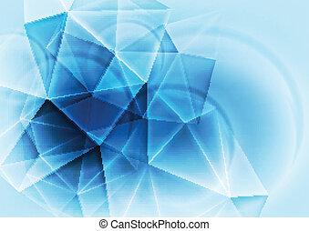hi-tech, 抽象的, 青, デザイン