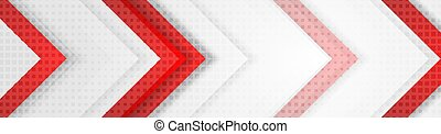 hi-tech, 赤, 灰色, 企業のデザイン, 旗