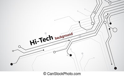 Hi-tech background - Hi tech background with black...
