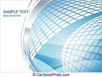 Hi-tech background - Modern blue Hi-tech background,vector...