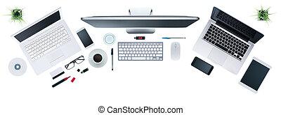 Hi-tech business desktop