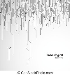 Hi-tech circuit board. Technological vector background