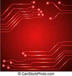 Hi tech circuit board. Vector illustration