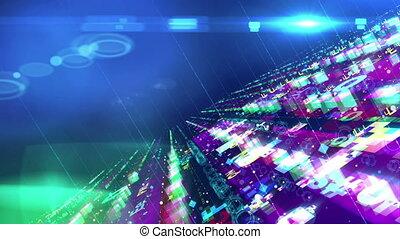 """""""Hi-tech colorful space design structure"""" - """"Gorgeous 3d..."""