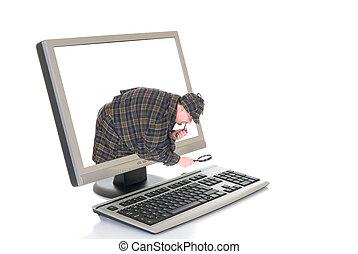 Hi tech computer - Hi Tech slim line Computer screen and...