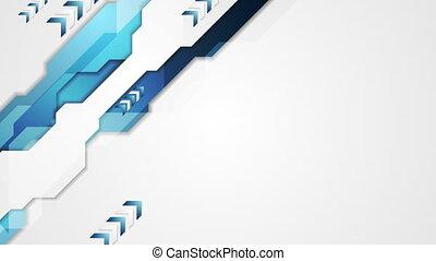 Hi-tech corporate arrows video animation - Hi-tech corporate...
