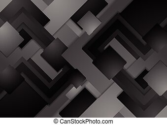 Hi-tech dark grey corporate abstract background
