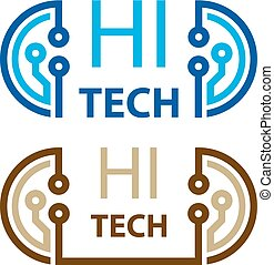 hi tech electronic circuit symbol