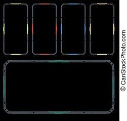 hi tech frame - hi tech vector frame pack