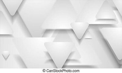 Hi-tech geometric abstract motion background with paper triangles