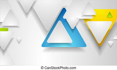 Hi-tech geometric motion design with paper triangles. Abstract technology colorful background. Seamless looping. Video animation Ultra HD 4K 3840x2160