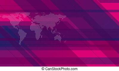 Hi-tech geometric video animation with world map - Hi-tech...