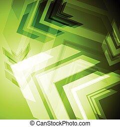 Hi-tech green arrows abstact background. Vector art design