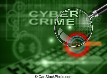 cyber crime - hi tech infographics of cyber crime made in 3d...