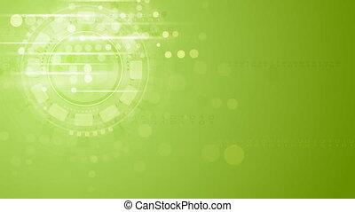 Hi-tech light green shiny video animation - Hi-tech light...