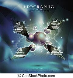 hi tech metal ball infographic
