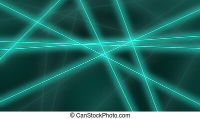 Hi-tech motion background. Abstract cyan lines crossings. 8K seamless loop animation
