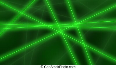 Hi-tech motion background. Abstract green lines crossings. 8K seamless loop animation