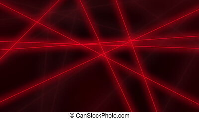 Hi-tech motion background. Abstract red lines crossings. 4K seamless loop animation