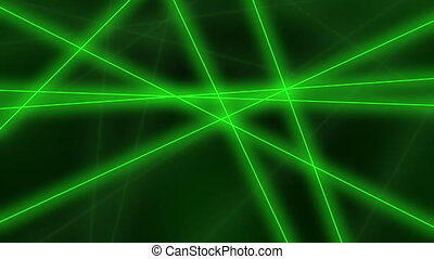 Hi-tech motion background. Abstract green lines crossings. 4K seamless loop animation