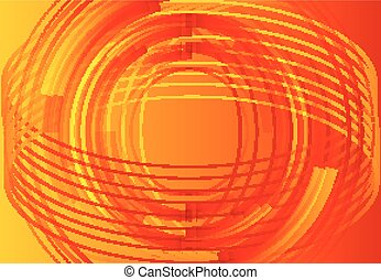 Hi-tech orange background