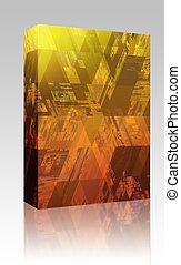 Hi Tech pattern box package - Software package box Hi tech...