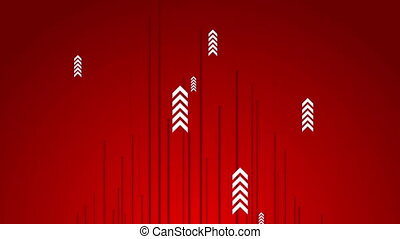 Hi-tech red abstract video animation with arrows - Hi-tech...