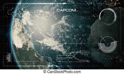 Hi-Tech User Interface, Head Up Display, Earth - Beautiful,...