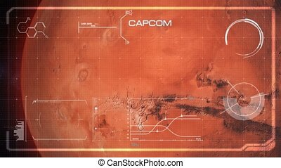 Hi-Tech User Interface, Head Up Display, Mars - Beautiful,...