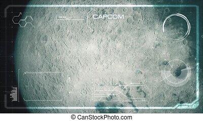 Hi-Tech User Interface, Head Up Display, Moon - Beautiful,...