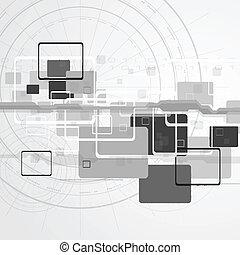 Hi-tech vector design