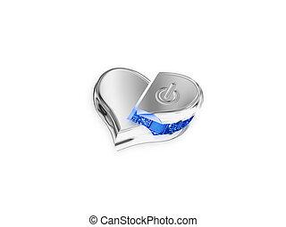 hi (technology) love - The heart designed as hi technology...