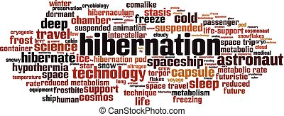 Hibernation word cloud