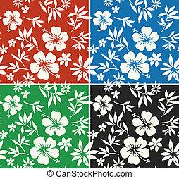 hibisco, impresión, flor