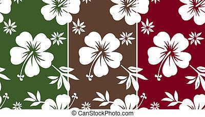 hibisco, padrão, seamless, tecido