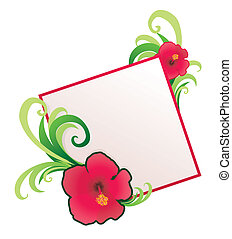 hibiscus   border illustration