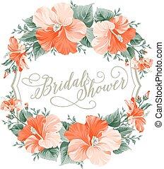 hibiscus, fleur, wreath.