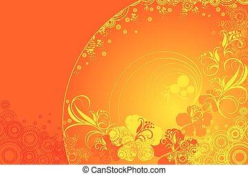 hibiscus flower, vector