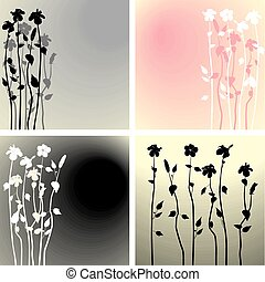 Hibiscus flowers background