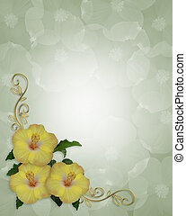 Hibiscus Flowers border design