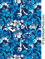 hibiscus, pattern., paume