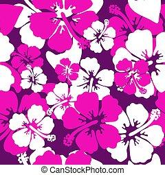 Hibiscus seamless background vector design summer shirt