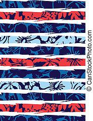 hibiscus, stripes., plage