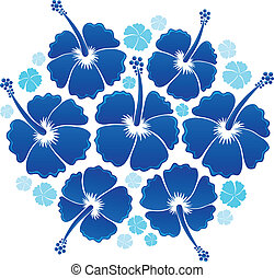 Hibiscus theme image 1 - vector illustration.