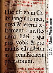 Hic est enim Calix sanguinis mei, novi & aeterni testamenti...