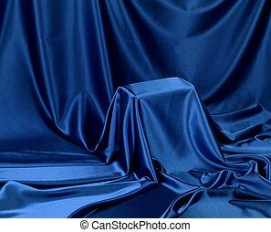 Hidden blue secret - Something secret veiled under satin...