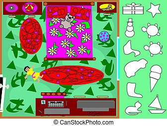 Hidden objects to find