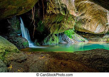 Hidden rock pool oasis Australia