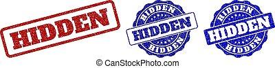 HIDDEN Scratched Stamp Seals