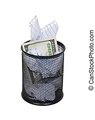 Hidden waste - Metal mesh garbage container for rubbish and ...